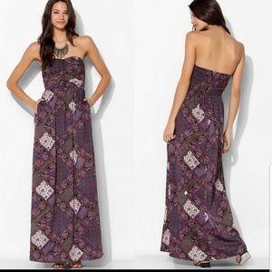 🌺BAND OF GYPSIES PAISLEY STRAPLESS MAXI DRESS